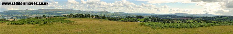 Black Mountains and Brecon Beacons Panorama