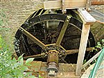 Talgarth restored mill wheel