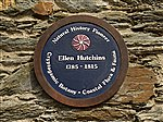 Ellen Hutchins memorial plaque